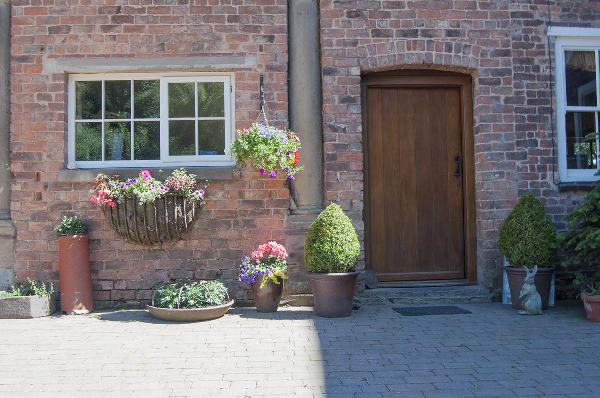 bach y graig courtyard