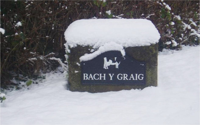snow sign bach y graig